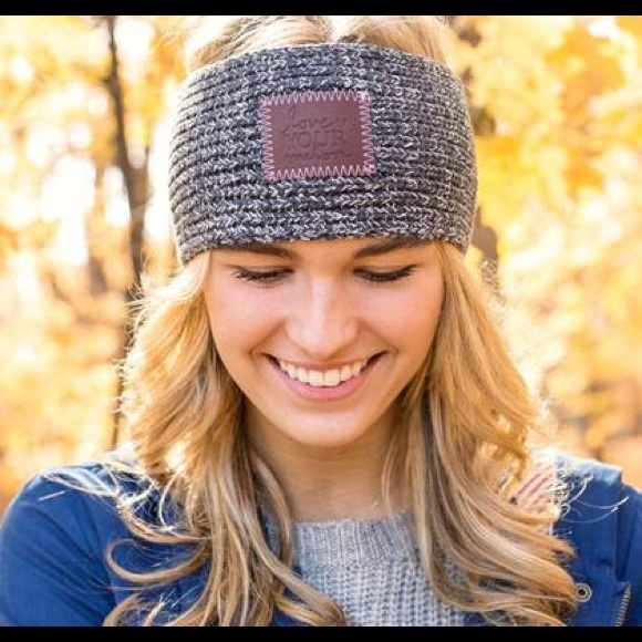 4839d873fb1f5 Love Your Melon Accessories - Love Your Melon Charcoal   White Headband
